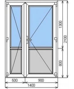 Дверь входная WDS 4 металопластиковая