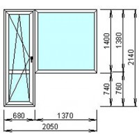 Окно металопластиковое WDS-500