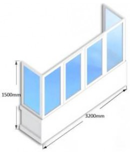 Балкон  WDS-400